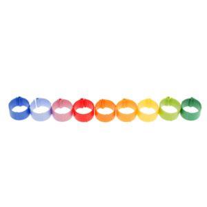 Obrączki 18 mm do znakowania kur rasdużych i pawi  – 50 szt. w 10 różnych kolorach