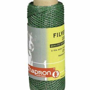 Plecionka zielona Filinoxdo pastuchów elektrycznych – długość 100m